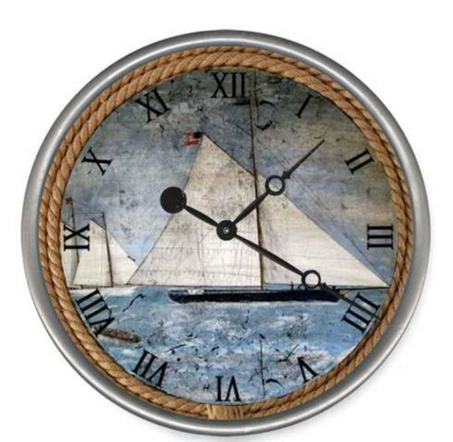 The Schooner Nautical Clock