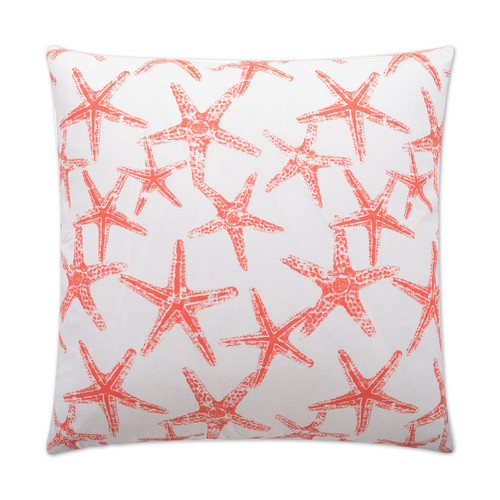 Seafriends Luxury Starfish Pillow in Coral.pillow front