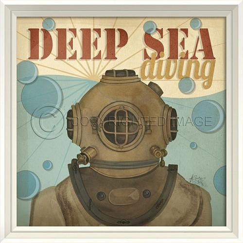 Deep Sea Diving Beach Poster Wall Art