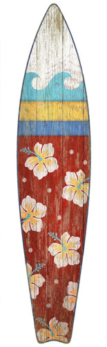 Hawaiian Style Surf Board Wall Art