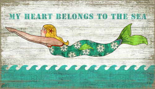My Heart Belongs to the Sea Mermaid Art