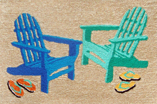 Bright Adirondack Chairs Indoor-Outdoor Rug