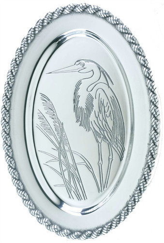 Latitudes Large Oval Heron Serving Tray