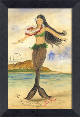 Paradise of the Beach Mermaid Wall Art - Small