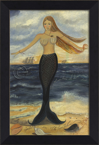 Here at Dawn and Dusk Mermaid Wall Art - Small