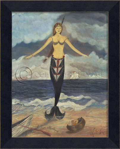 The Mermaid from Maddequet Framed Art