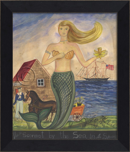 The Mermaid from Sconset by the Sea Wall Art