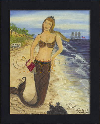 The Mermaid from Miacomet - Mermaid Art