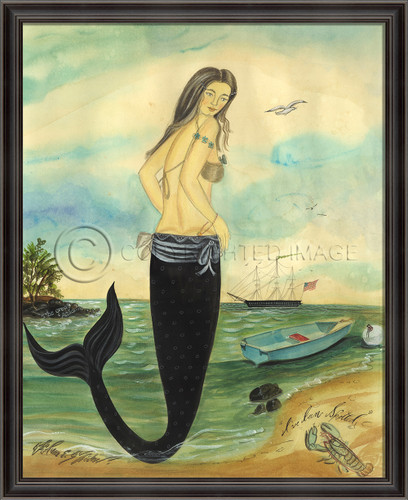 I've Been Spotted Framed Mermaid Art - Medium