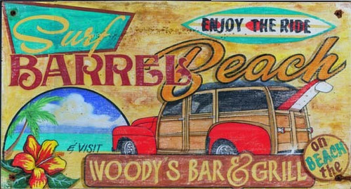 Woody Surf Beach Sign