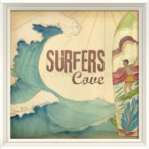 Surfer's Cove Wall Art
