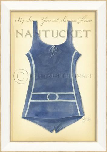 Vintage Swimsuit Art - Nantucket Summer House