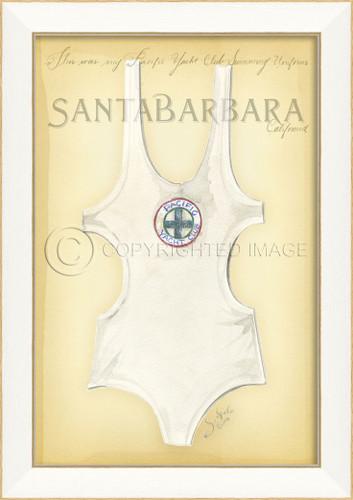 Vintage Swimsuit Art - Santa Barbara