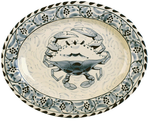 Blue Crab Bay Large Oval Platter