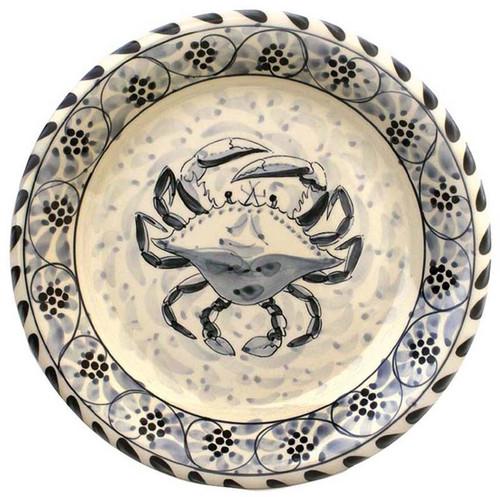 Blue Crab Salad Plates - set of 4