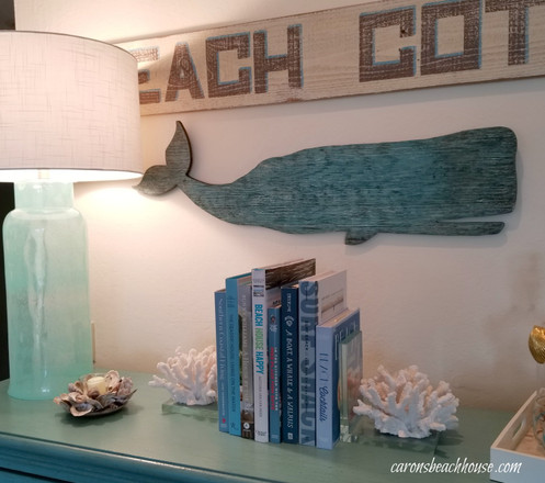 Beach Bookshelf Styling