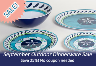 September Outdoor Dinnerware Sale