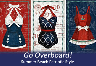 Summer Beach Patriotic Style
