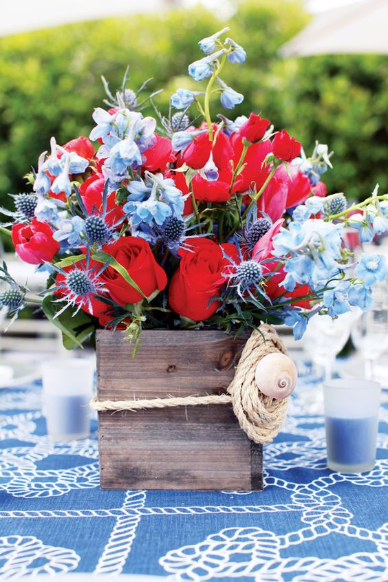 Patriotic nautical tablescapes perfect for th of