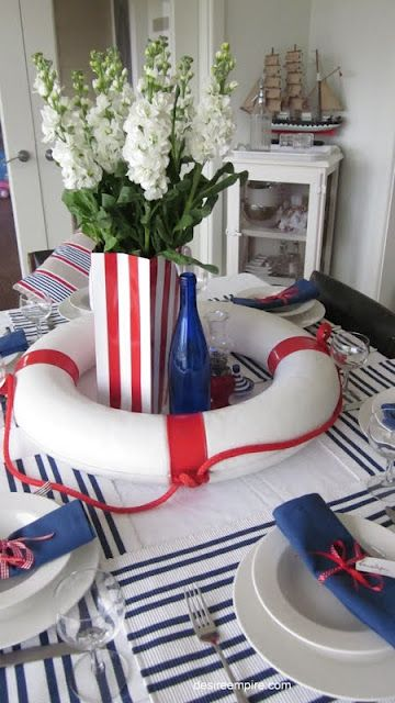 10 Patriotic Nautical Tablescapes Perfect For 4th Of