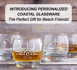 Personalized Coastal Glassware