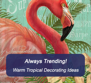 Warm Tropical Decorating Ideas