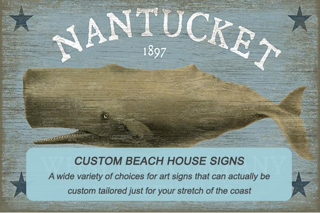 Custom Beach House Signs