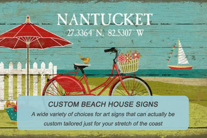 Custom Beach House Signs