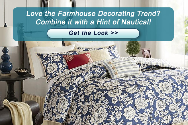 Farmhouse Decorating Trend with Hint of Nautical