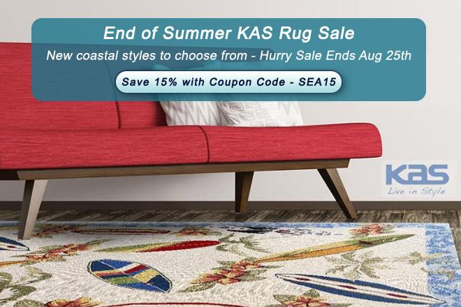 End of Summer KAS Rug Sale