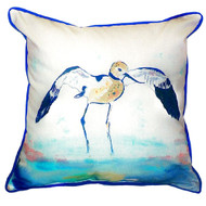 Avocet Shorebird Beach Cottage Pillow