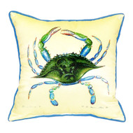 Blue Crab Yellow Large Pillow