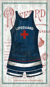 The Blue Lifeguard Swimsuit Custom Art
