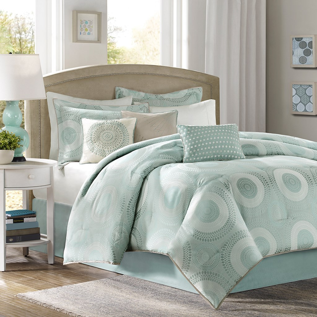 Aqua Baxter Bedding Set King Size