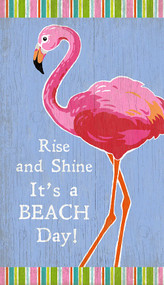 Rise and Shine Flamingo Beach Art