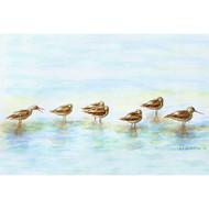 Tiny Avocet Seabirds in the Surf Floor Mat