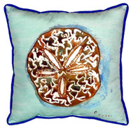 Teal Sand Dollar Coastal Pillow
