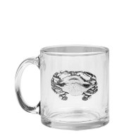 Polished Crab Glass Coffee Mugs - Set of 4