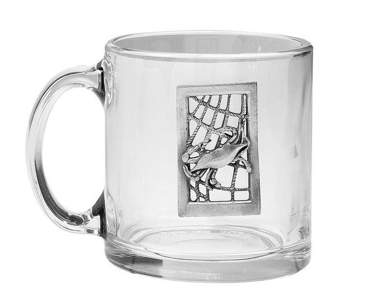 Seafarer Crab Glass Coffee Mugs Set Of 4