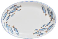 Blue School of Fish Oval Platter