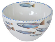 Blue School of Fish Soup Bowls - set of 6