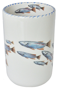 Blue School of Fish Wine Bottle Holder