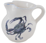 Blue Crab Large Serving Pitcher