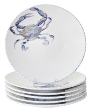 Blue Crab Dinner Plates - Set of 6