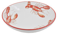 Orange Lobster Large Serving Bowl