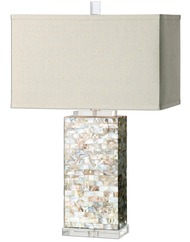 Pearl Capiz Shell Tiled Lamp