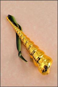 Gold Turritella Shell Ornament