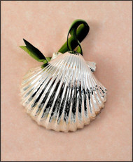 Silver Scallop-Pectin Shell Ornament