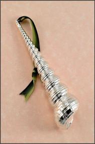 Silver Turritella Shell Ornament