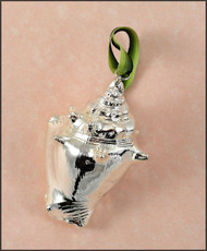 Silver Strombus Shell Ornament